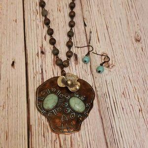 Sugar Skull Necklace Set